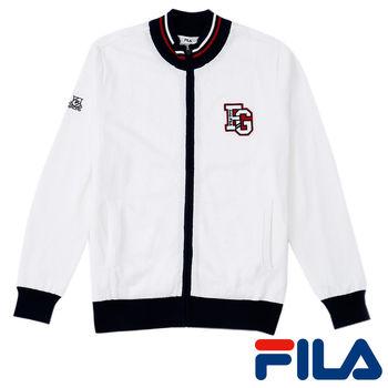 FILA男仕義式風情線衫外套(純淨白)1SWP-5203-WT