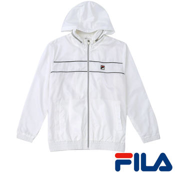 FILA男仕抗UV風衣外套(純淨白)1JKP-5005-WT