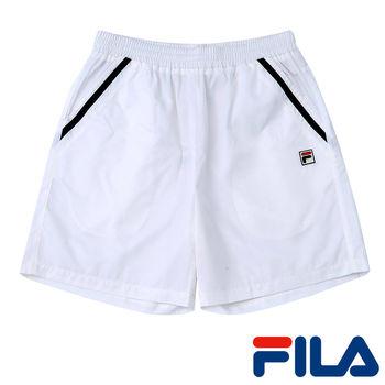 FILA男仕休閒抗UV短褲(純淨白)1SHP-5004-WT