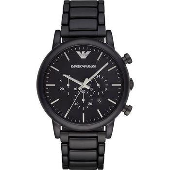 Emporio Armani Classic 紳士計時錶-黑/46mm AR1895