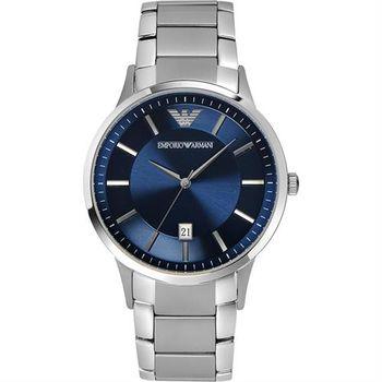 ARMANI Classic 都會時尚石英腕錶-藍/43mm AR2477