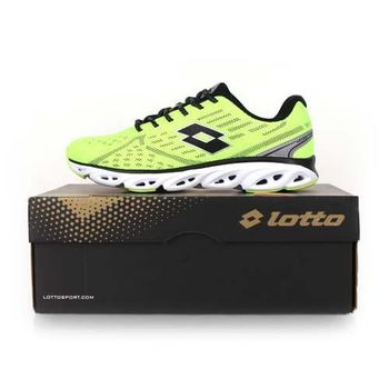 【LOTTO】AIR FLOW II 男跑鞋 -路跑 慢跑 螢光綠黑