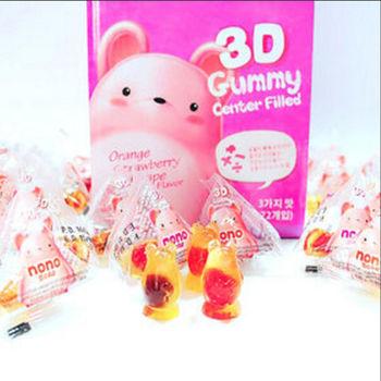 【韓國nono】熊寶寶3D軟糖口味任選1盒(72顆/盒)