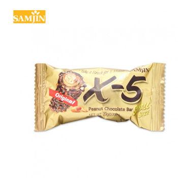 【韓國 Samjin】X-5 迷你花生巧克力捲心酥50條(20g/條)