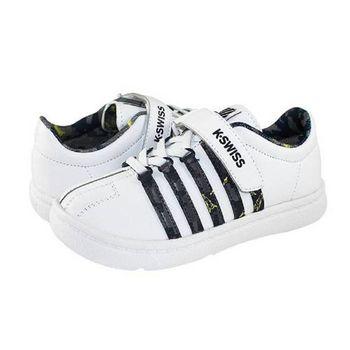 K-Swiss Classic VLC 經典休閒鞋-童-白/黑/炭灰