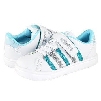 K-Swiss CHK116復刻休閒鞋-童-白/藍