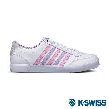 K-Swiss Court Lite輕量休閒鞋-女-白/淺粉/淺紫
