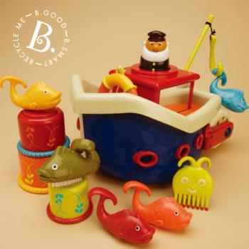 【美國B.Toys感統玩具】小船長釣魚組