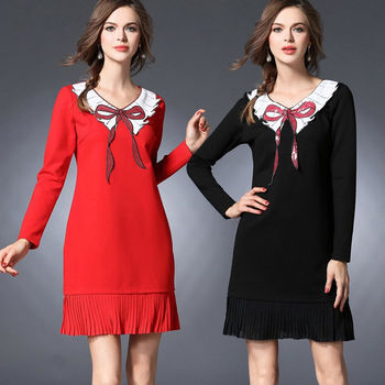 【麗質達人中大碼】亮片拼接洋裝(XL-5XL)