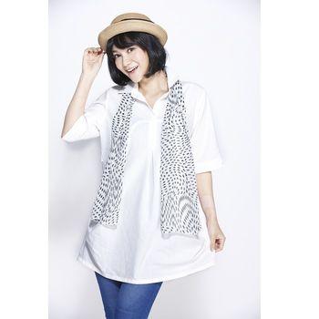 JOYJOY棉麻長版衫+圍巾6件組
