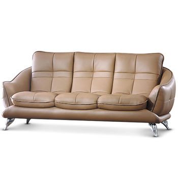 【MY傢俬】英倫都會設計獨立筒皮面三人沙發(三色可選)