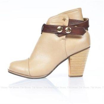 【TOMO】《正韓空運》金屬釦飾造型粗跟鞋(K167D2784)