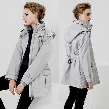 ST.MALO 蘇格蘭菱格紋風衣式太陽棉外套