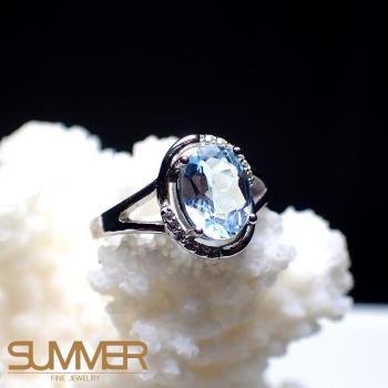 【SUMMER寶石】天然《藍色拓帕石》設計款戒指 (P6-07)