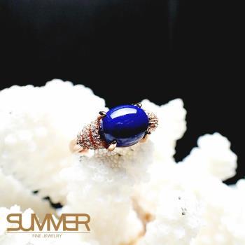 【SUMMER寶石】天然《青金石》設計款戒指 (P3-14)
