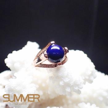 【SUMMER寶石】天然《青金石》設計款戒指 (P3-04)