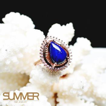 【SUMMER寶石】天然《青金石》設計款戒指 (P3-02)
