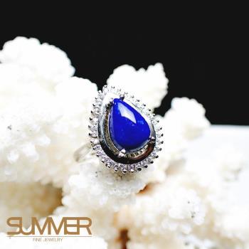 【SUMMER寶石】天然《青金石》設計款戒指 (P3-01)