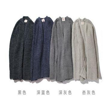 【協貿國際】長袖針織衫韓版男士加厚毛衣開衫外套單件