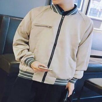 【協貿國際】棒球服外套男士韓版純色單件