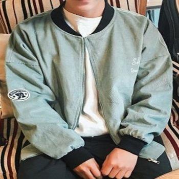 【協貿國際】棒球服青年休閒夾克衫單件