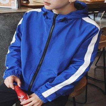 【協貿國際】連帽外套男士薄款青年運動休閒夾克衫單件
