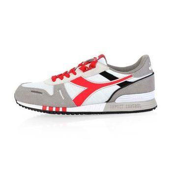 【DIADORA ORIGINAL】TITAN II男進口復古休閒鞋 白紅黑
