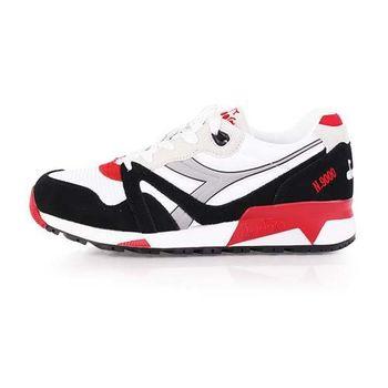 【DIADORA ORIGINAL】N9000 NYL男進口復古休閒鞋 白黑紅