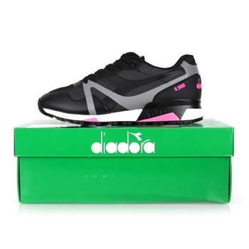 【DIADORA ORIGINAL】N9000男進口復古休閒鞋 黑粉