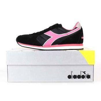 【DIADORA ORIGINAL】K_RUN女進口復古休閒鞋 黑粉