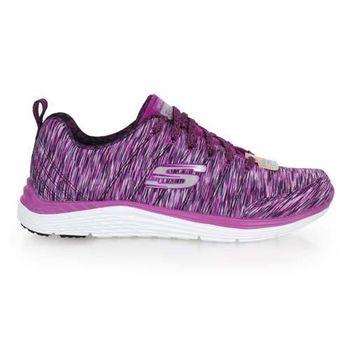 【SKECHERS】AIR-COOLED女休閒健走鞋- 走路鞋 休閒鞋 紫銀