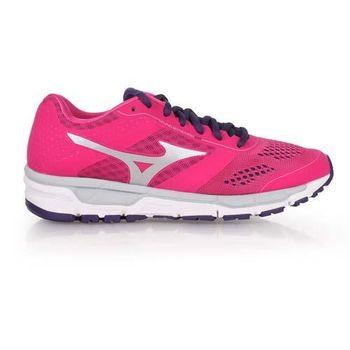 【MIZUNO】SYNCHRO MX 女慢跑鞋- 美津濃 桃紅紫
