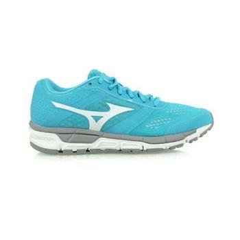 【MIZUNO】SYNCHRO MX 女慢跑鞋- 美津濃 湖水藍白