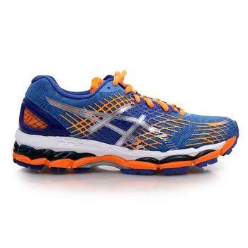 【ASICS】GEL-NIMBUS 17-D 女慢跑鞋- 路跑 寬楦 亞瑟士 藍螢光橘