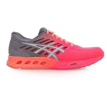 【ASICS】FUZEX 女慢跑鞋- 路跑 亞瑟士 健身 訓練 桃紅灰