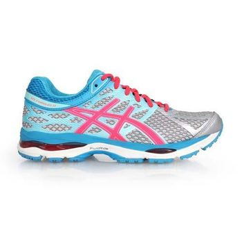 【ASICS】GEL-CUMULUS 17 女慢跑鞋- 路跑 亞瑟士 水藍桃紅灰