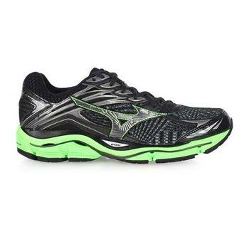 【MIZUNO】WAVE ENIGMA 6 男慢跑鞋- 路跑 美津濃 黑螢光綠