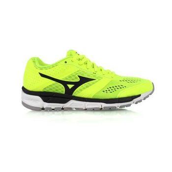 【MIZUNO】SYNCHRO MX 女慢跑鞋- 美津濃 螢光綠黑