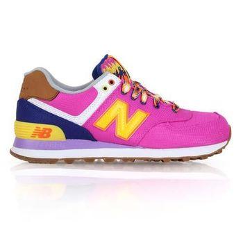 【NEWBALANCE】574系列 女復古休閒鞋- NB N字鞋 桃紅黃