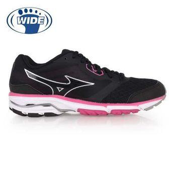 【MIZUNO】WAVE UNITUS DC 2 女慢跑鞋-- 寬楦 美津濃 黑桃紅