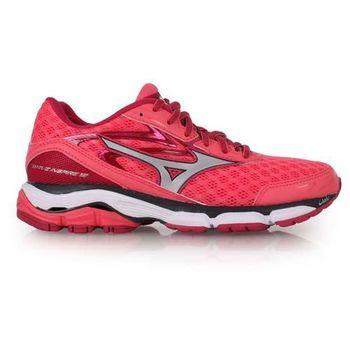 【MIZUNO】WAVE INSPIRE 12 女慢跑鞋- 路跑 美津濃 運動 玫紅白