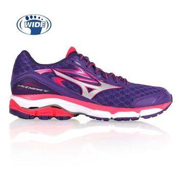 【MIZUNO】WAVE INSPIRE 12 女慢跑鞋- 路跑 寬楦 美津濃 紫亮桃紅
