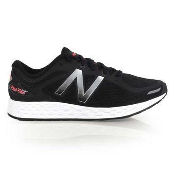 【NEWBALANCE】FRESH FOAM 男避震慢跑鞋-2E- 寬楦 NB 黑銀白