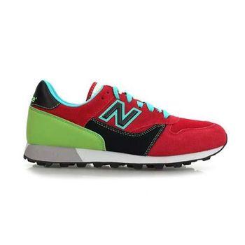 【NEWBALANCE】男復古休閒鞋- 運動鞋 NB 紅黑綠