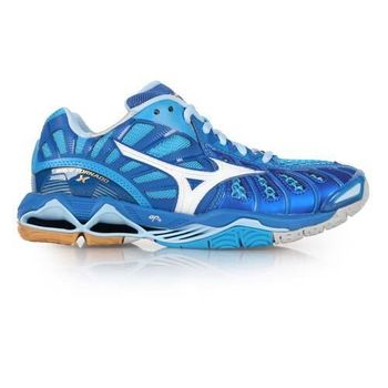 【MIZUNO】WAVE TORNADO X 男排球鞋- 羽球鞋 羽毛球 美津濃 藍白