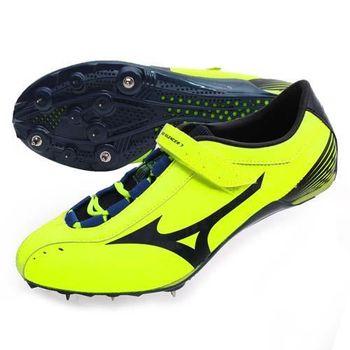 【MIZUNO】GEO SILENCER 7 男女田徑釘鞋-短距離跨欄 美津濃 螢光黃黑