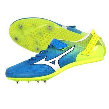 【MIZUNO】GEO STREAK 男女田徑釘鞋- 短距離 跨欄 美津濃 水藍螢光黃