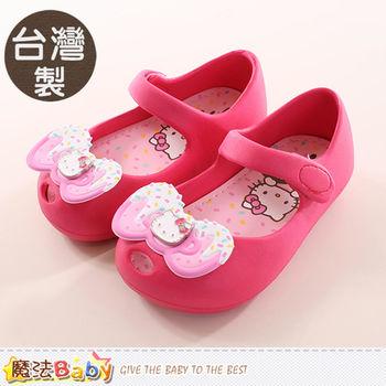 魔法Baby 女童鞋 台灣製Hello Kitty正版輕量美型鞋~sh9902