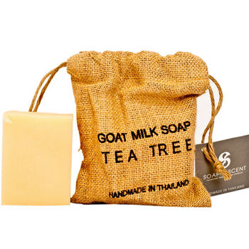 Thai Scent泰香 麻布袋山羊奶手工保養皂-茶樹 270g