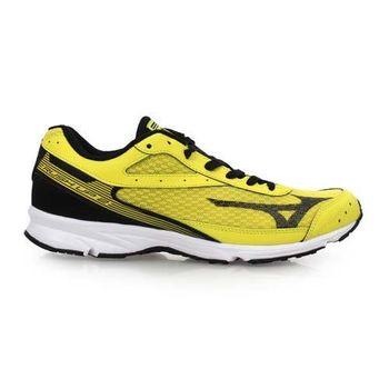 【MIZUNO】RUSH UP 2 男路跑鞋- 慢跑 健身 美津濃 黃黑